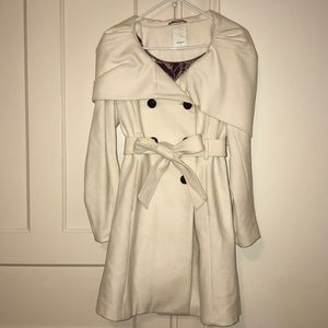 Anthropologie {elevenses} ivory trench coat